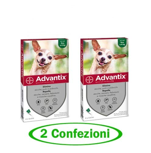 advantix Spot-ON per Cani Fino a 4 kg - Offerta 2 Confezioni