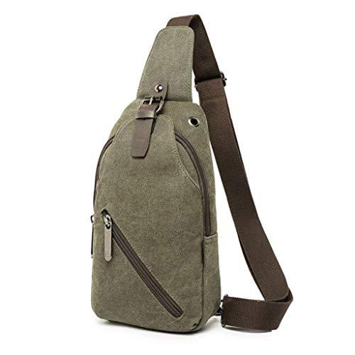 Mannen borstzak canvas eenvoudige outdoor sporttas Casual schoudertas Messenger tas ademende persoonlijkheid kleine rugzak tas