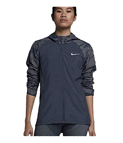 Nike Women's Essential Flash Running Jacket (Blue, Small)