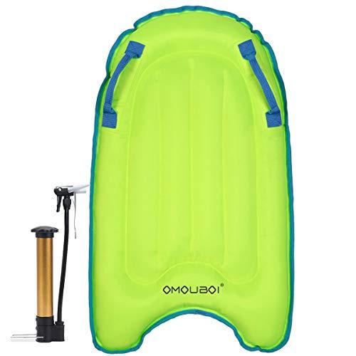 OMOUBOI Inflatable Bodyboard Pool Float Swim Air Bed (Blue)