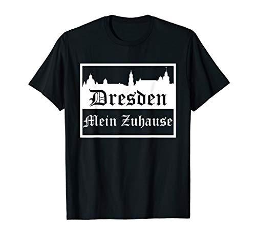 Dresden mein Zuhause | Silhouette Stadt Skyline T-Shirt
