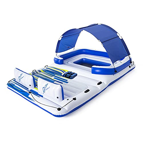 YHLO Giant Inflatable Party Big Floating Island, Pool Float, Load-Bearing 540kg, Giant Size Outdoor Water Toys for Lakes and Beach, Swim Stuff for Summer for Adults Ki