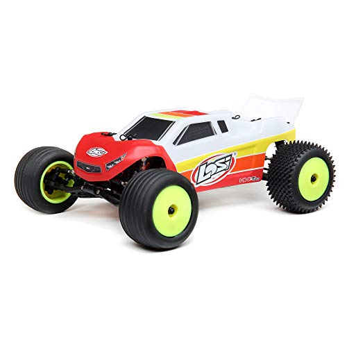 Losi RC Truck 1/18 Mini-T 2.0 2WD Stadium Truck Brushless RTR (Ready-to-Run), Red, LOS01019T1