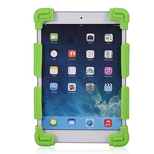 Yctze Funda de Silicona para Tableta, Protector de Cubierta para Tableta,(Green, 7.9-9 Inches)