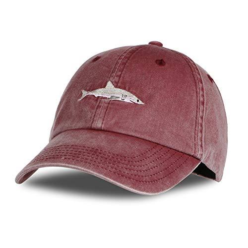 TRGFB Baseball Cap Top Fashion Gewaschene Baseballmütze Männer Pink Shark Stickerei Papa Hut Für Frauen Gorras Planas Snapback Papa Bosco Caps