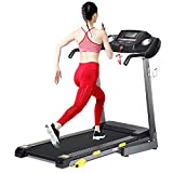 Folding Treadmill Electric Motorized Running Machine 17'' Wide Tread Belt w/Incline LCD Display and Cup Holder Easy Assembly with 15 Preset Programs Perfect for Home Use