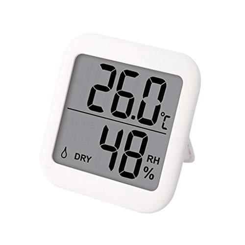 KJ-KUIJHFF Feuchtigkeitsmesser, Gro?bild-Thermometer-Hygrometer ¡æ / ¨H mit Magnet- und Halterung Temperatur-Feuchtigkeitsmesser-Monitor Innenwetterstation