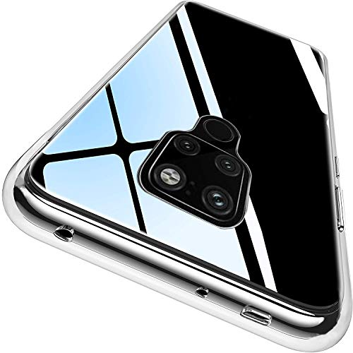 Ylife Hülle Kompatibel mit Huawei Mate 20,Anti-Vergilbung Slim Transparent Hochwertig TPU Weiche Handyhülle,Anti-Fingerabdruck Anti-Scratch Stoßfest Silikon Schutzhülle für Huawei Mate 20