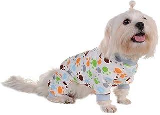 Poetryer Ropa Perro pequeño Pijama Perro pequeño Perro Ropa Pijamas de algodón, Suave Algodón Puppy Rompers Mono de Mascota Acogedor Body para Perros pequeños y Gatos