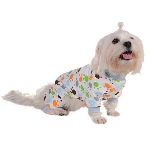 Poetryer Ropa Perro pequeño Pijama Perro pequeño Perro Ropa Pijamas de algodón,...
