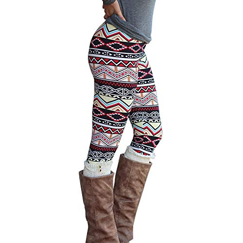 DEELIN Leggings Beiläufige Frauen Dame Skinny Geometric Print Stretchy Jegging Pants Slim Hosen