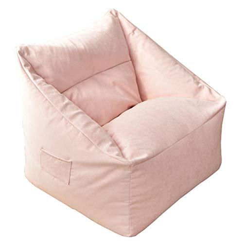 LDIW Sitzsackhülle(ohne Füllung), Weicher und Bequemer Sitzsack Bezug für Erwachsene und Kinder 75x65x35cm,Rosa