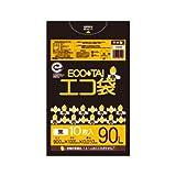 サンキョウプラテック エコ袋 90L 0.050厚 黒 10枚入×25冊 LN-97