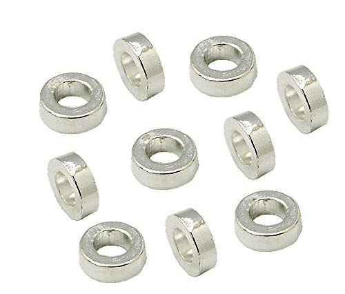 Perlin - Metallperlen Tibet Silber Zwischenteile Ring Perlen Metall Spacer Schmuckteile 6mm 80stk Rondell F240 X2