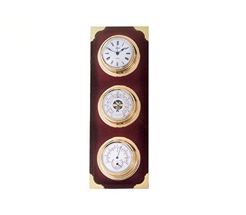 RELOJESDECO Estación meteorológica náutica, Barómetro y estación meteorológica, con Reloj, barómetro, termómetro Nauticos 35cm.