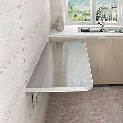 LJHSS Mesa Plegable De Pared,Escritorio Plegable portátil Flotante Simple Mesa de Comedor,Mesa de Trabajo Plegable montada en la Pared,para Cocina Comedor Dormitorio