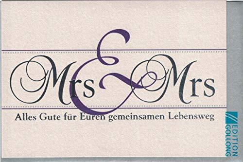 Hochzeitskarte Mrs. & Mrs.,gleichgeschlechtlich,lesbisch,incl.Kuvert
