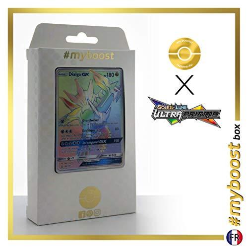 Dialga-GX 164/156 Arc en Ciel Secrète - #myboost X Soleil & Lune 5 Ultra-Prisme - Coffret de 10 Cartes Pokémon Françaises