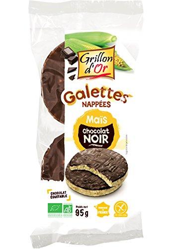 Grillon d'or Galettes de Maïs Nappées Chocolat Noir 100 g