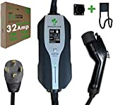PRIMECOM.TECH Level 2 Electric Vehicle (EV) Charger Amperage Adjustable (10Amp - 16Amp - 20Amp - 24Amp - 32Amp) 30Ft Cable EVSE Plug-in Hybrid (30 FT, 14-30P)