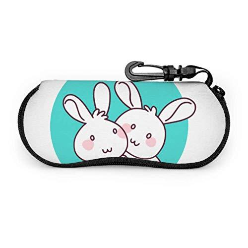 Precioso lindo abrazo conejo liebre deportes gafas gafas gafas funda protectora soporte protector para gafas