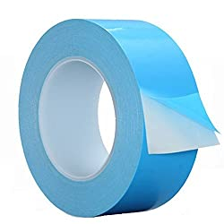 HPFIX Thermal Adhesive Tape 40mm by 25M, High Performance Double Side Thermally Conductive Tape Apply for Heat Sink, LED Strips, PC CPU,GPU