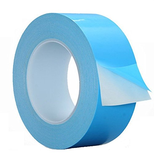 Thermal Adhesive Tape 30mm by 25M, HPFIX High Performance Thermally Conductive Tape Apply for Coolers, Heat Sink, LED Strips, Computer CPU, GPU, Easy to Apply & High Durability
