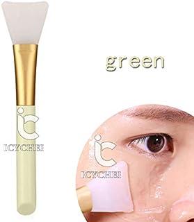 ICYCHEER Silicone Facial Mask Brush Hairless Face Mask Brush Makeup Applicator Brush Mask Mud Brush Tools Mask Applicator Makeup Cosmetic Brush (green)