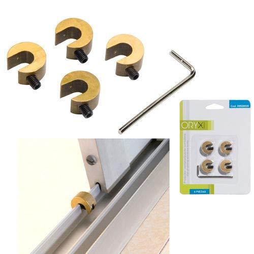 ORYX 5520020 Protector Puertas/Ventanas Correderas (Blister 4 Piezas)