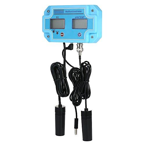 KKmoon Testeur de qualité d'eau professionnel 3 en 1 pH/EC/TEMP [Multiparamétrages Digital LCD Tri-mètre Multiparamétrait]