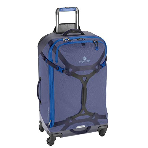 Eagle Creek Gear Warrior 95L, Travel Roller Bag with 360° movement wheels, Outdoor Wheeled Trolley, PET ripstop abrasion & water resistant material, extendable Handle, Arctic Blue, 44 x 76 x 30 cm