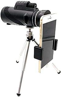 DZSF teleskop teleskop 40 x 60 med telefonklämma, nattsikt-enhandsfokus, vattentät för fågelskådning utomhus eller vilda djur