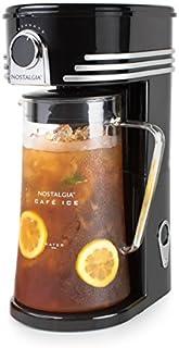Nostalgia CI3BK Iced Coffee Maker and Tea Brewing System, Glass Pitcher, 3 quart, Black