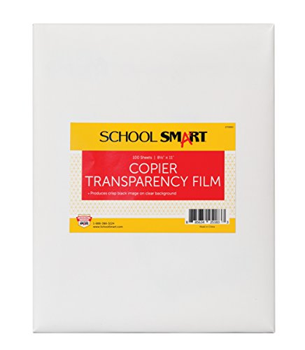 School Smart 8-1/2 x 11 in Copier Film Without Sensing Strip, Pack of 100, Transparency - 079880