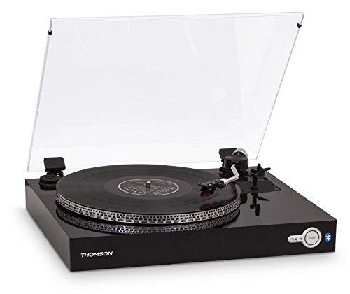 Thomson - Platine Vinyle avec transmetteur Bluetooth - Récepteur Audio - sans Fil - Noir