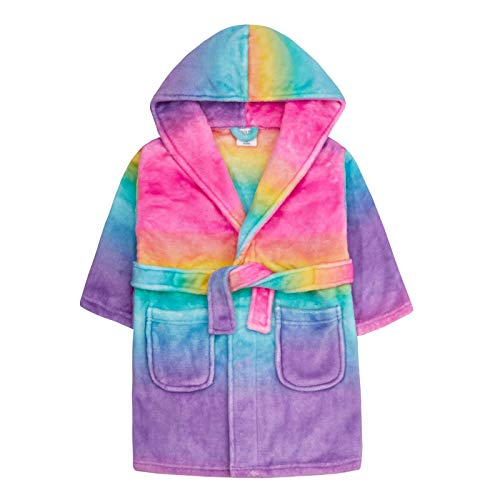 Lora Dora meisjes gradiënt regenboog gewaad capuchon fleece dressing jurk kinderen pluche badjas cadeau