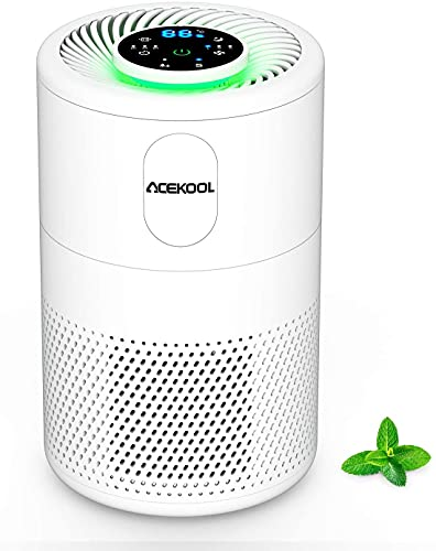 Luftreiniger Acekool D02 Air Purifier mit H13 HEPA Aktivkohlefilter 99,97% Filterleistung Luftqualitätsprüfung Timer Funktion Schlafmodus CADR 150m³/h für Allergiker gegen Hausstaub Pollen Gerüche