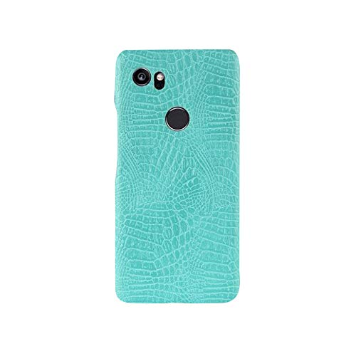 BEST SHOPPER Premium Quality Crocodile Grain Hard PC+PU Leather Surface Back Cover Case Compatible with Google Pixel 2 - Green