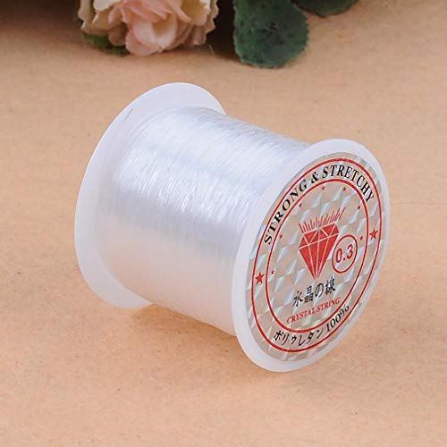 YKSO Cordón de poliéster elástico plano de 40 m para joyería, pulsera, abalorios, hilo de manualidades, accesorios