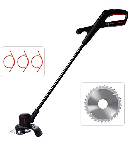 Best Prices! JXH Cordless Grass Brush Cutter Weed Whacker Trimmer with String and Cutter, 2.0AH Lith...