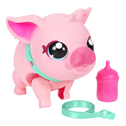 Little Live Pets - My Pet Pig: Piggly | Soft and Jiggly Interactive Toy Pig That Walks, Dances and Nuzzles. 20+ Sounds & Reactions. Batteries Included. for Kids Ages 4+