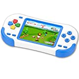 ZHISHAN Console di Gioco Portatile per Bambini con 220 Videogiochi Classici Integrati 3.0' LCD Schermo Sistema di Gioco Elettronico Ricaricabile per Adulto Compleanno e Regalo di Natale-Blu