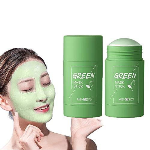 Maschera purificante all argilla al tè verde, rimozione dei punti neri, pulizia profonda dei pori, migliora la pelle naturale del viso idrata il controllo dell olio maschera detergente fango(GreenTea)