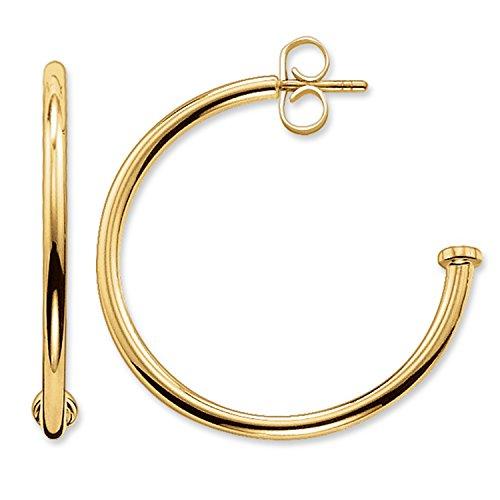 Thomas Sabo Damen-Creolen Karma Beads 925 Silber teilvergoldet - CR589-413-12