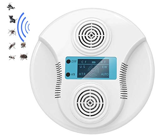 yzdhaxa Ultraschall-Insektenschutzmittel Tragbares Insektenschutzmittel Kann Für Menschen Sicher Sein Und Haustiere Können Flohmücken-Insektenmausweiß Abwehren USB-Aufladung