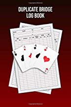 Duplicate Bridge Logbook: A book of log sheets: Perfect for scorekeeping: Maroon cover