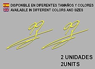 Ecoshirt U5-07FM-6ZVC Stickers 99 Signature Jorge Lorenzo F65 Aufkleber Decals Autocollants Adesivi Moto GP, Yellow