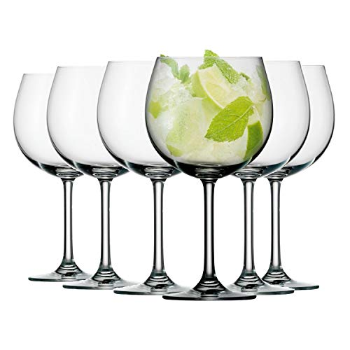 Dawsons Living Ultra Copa Gin Glass - Premium Quality Crystal Drinking Glasses - Dishwasher Safe - 650ml - Set of 6 (Gin Glass)