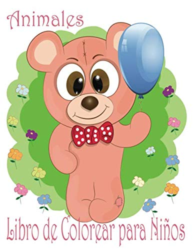 Animales Libro de Colorear para Niños: Libro de colorare para niños y niñas con 100 motivos de animales - Relajantes Libros Para Colorear Para Niños De 2-4, 3-6 Años - delfín,cabra,pollo,ratón,perro