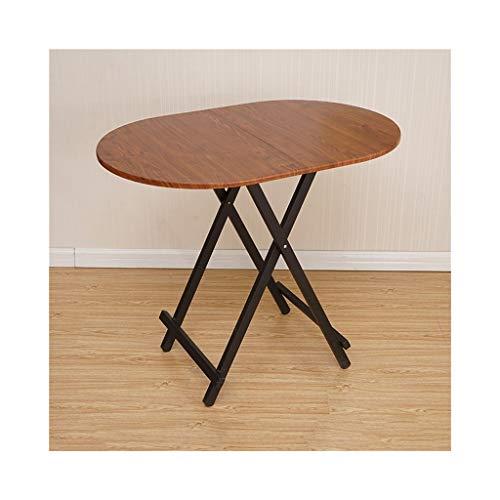 Caoyu CaoyuMultifunktionaler Beistelltisch Klappbarer Esstisch, Computertisch, tragbarer einfacher ovaler Tisch, Stehtisch im Freien (Farbe : Brown)